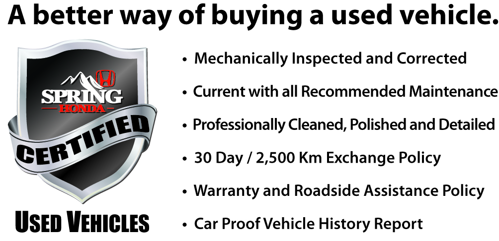 Certified Used Vehicle Program banner