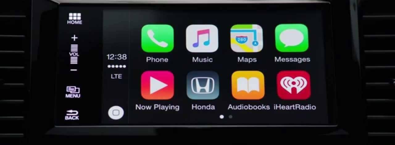 apple carplay on honda display audio touchscreen